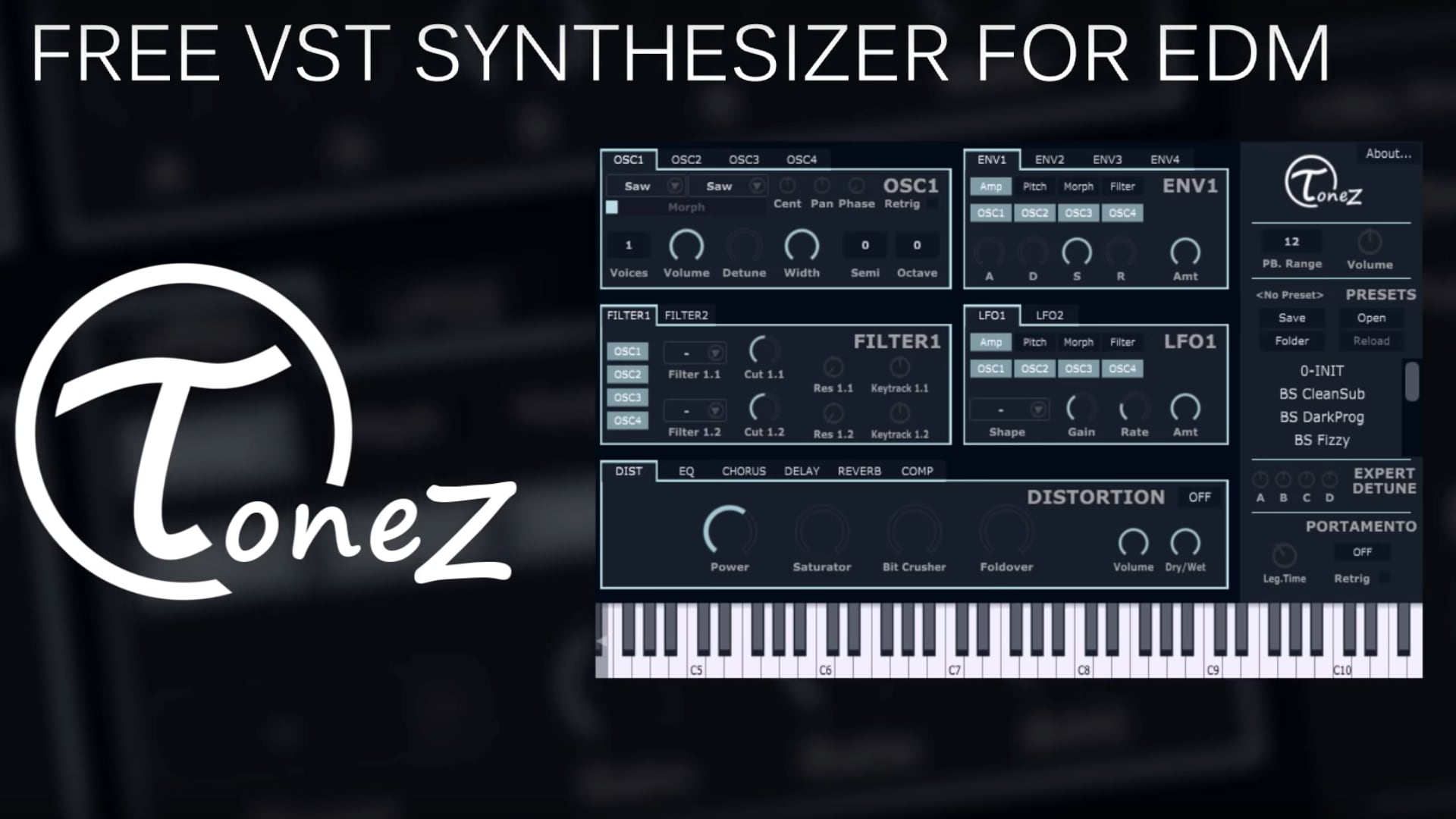 ToneZ by T0NIT0 RMX | Free VST Plugin for EDM
