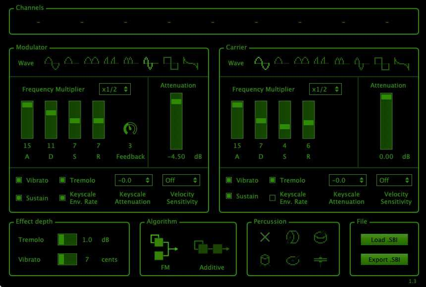 discoDSP OPL FM Synthesizer