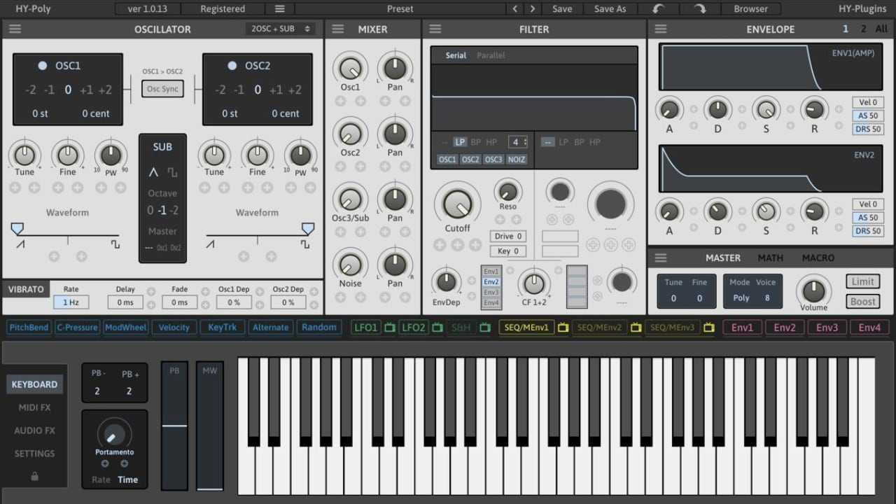 HY-Poly FREE Virtual Synthesizer