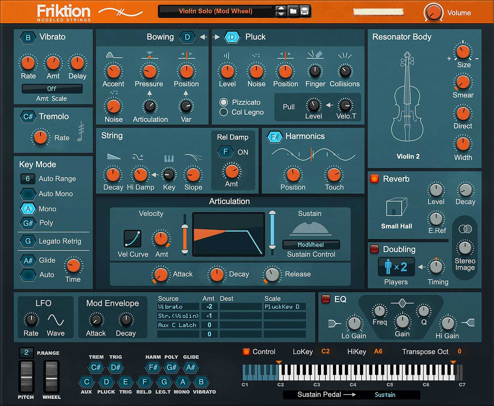 Reason Studios Friktion Modeled Strings
